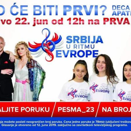 """ГЛАСАЊЕ ЗА ТАКМИЧАРКЕ ИЗ АПАТИНА - """"СРБИЈА У РИТМУ ЕВРОПЕ"""