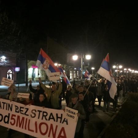 """ДЕВЕТИ ПРОТЕСТ """"1 ОД 5 МИЛИОНА"""" У АПАТИНУ"""